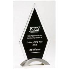 Diamond Series Award with beveled black glass